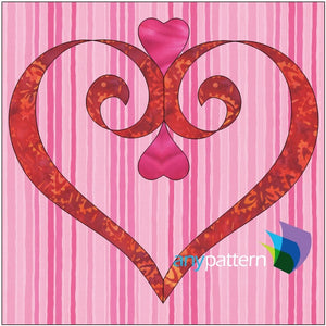 Love is a Ribbon Applique Quilt Block