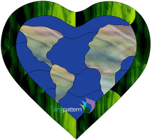 Free Love the Earth Stained Glass Pattern