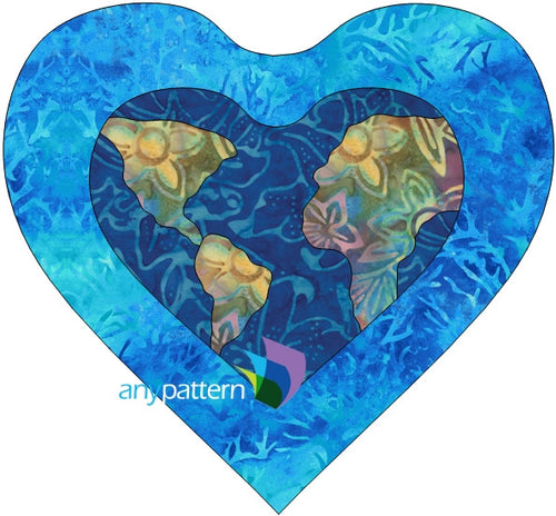 Free Love the Earth Applique Quilt Pattern