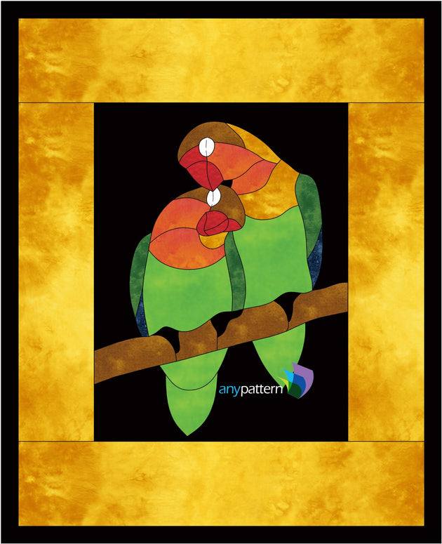 Lovebirds Applique Quilt Pattern
