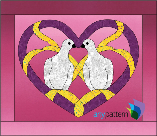 Loving Doves Applique Quilt Pattern