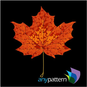Maple Leaf Quilt Block Applique Pattern