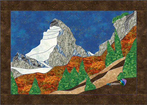 Matterhorn mountain Quilt Applique Pattern