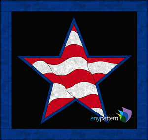 Star Flag Applique Quilt Pattern