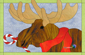 Christmas Moose Stained Glass Pattern