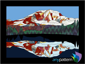 Mount Rainier Reflection Applique Quilt Pattern