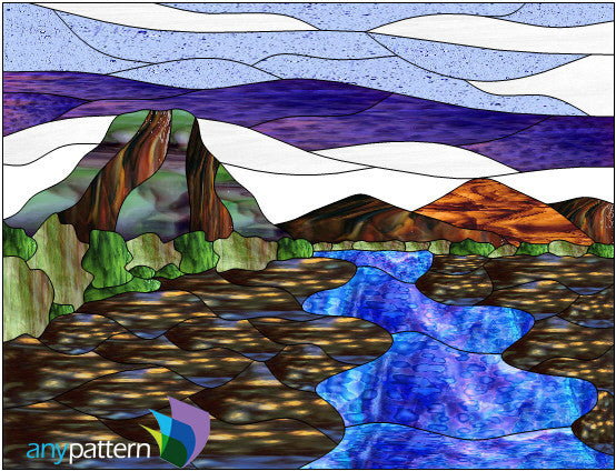 Mountain Creek Stained Glass Pattern