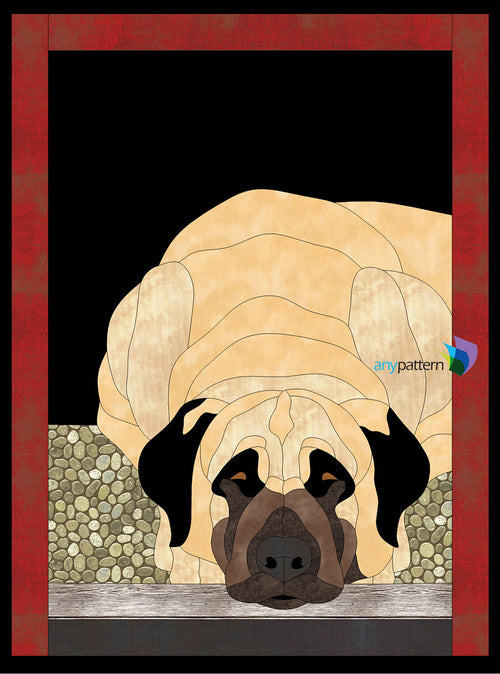 Dog Anatolian Shepherd Applique Quilt Pattern
