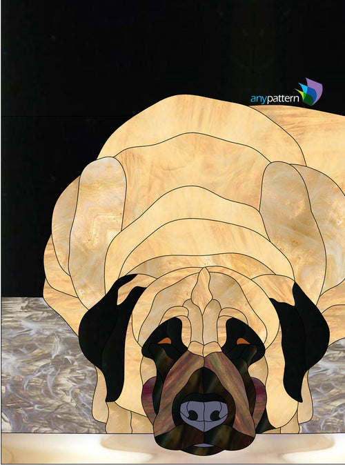 Dog Anatolian Shepherd Stained Glass Pattern