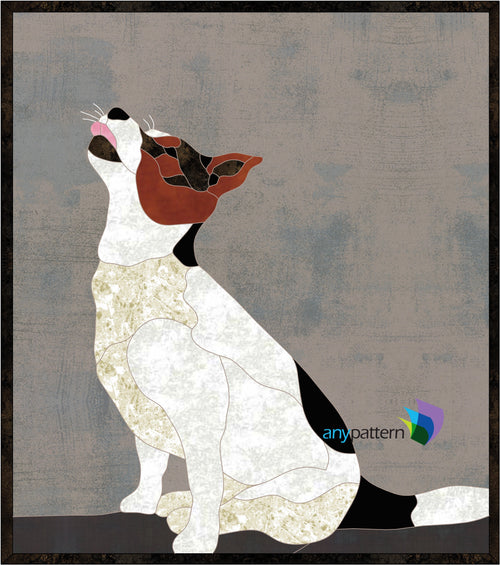 Jack Russell Terrier Applique Quilt Pattern