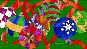 Ornaments Stained Glass Pattern by AnyPattern