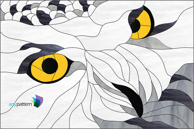Owl Eyes Stained Glass Pattern