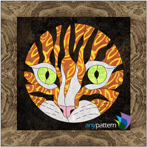 Peek-a-boo Kitty Applique Quilt Pattern