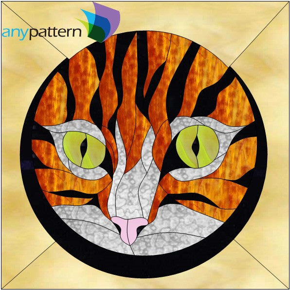 Peek-a-boo Kitty Stained Glass Pattern