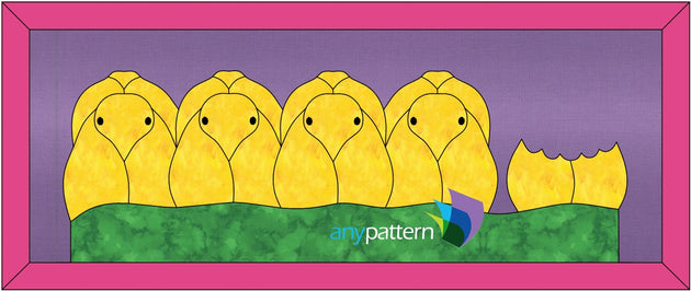 Peeps Applique Quilt Pattern