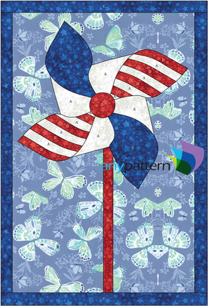 Flag Pinwheel Applique Quilt Pattern