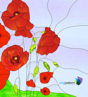 Poppies Stained Glass Pattern