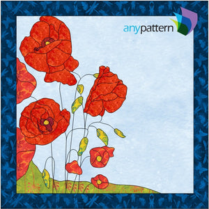 Poppies Applique Quilt Pattern
