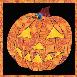 Halloween Pumpkin Applique Quilt Pattern