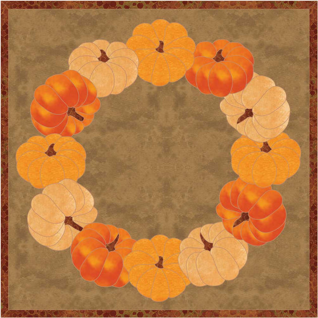 Pumpkin Wreath Applique Pattern