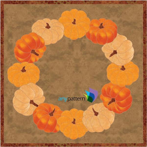 Pumpkin Wreath Applique Quilt Pattern