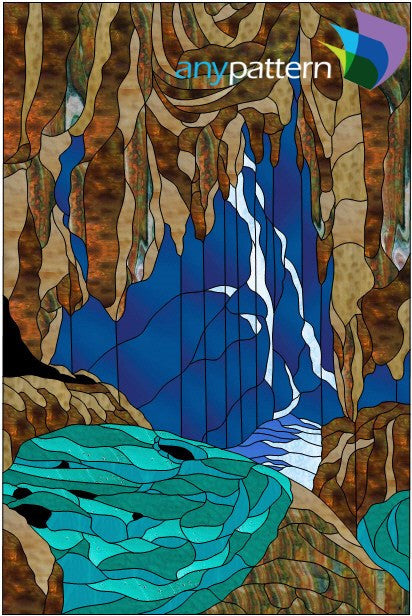 Raining Cave Stained Glass Pattern