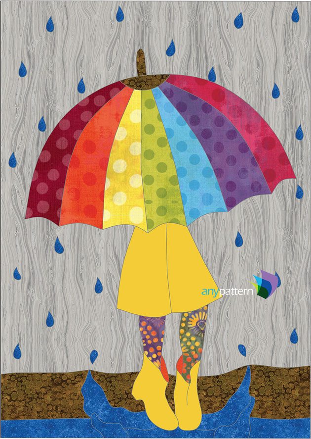 Rainy Days Applique Quilt Pattern