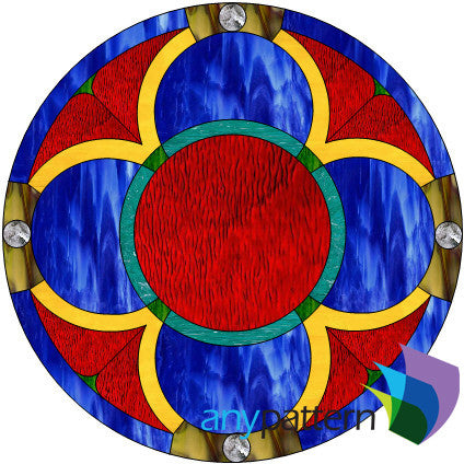 Round Gothic Stained Glass Pattern