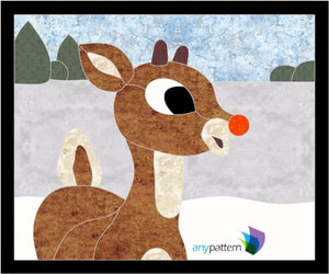 Rudolph Applique Quilt Pattern