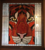 Stained Glass Example of Tiger Face by Diana Garza