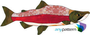 Salmon Stained Glass Pattern