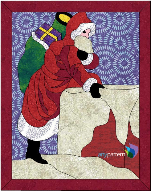 Santa's Coming Applique Quilt Pattern
