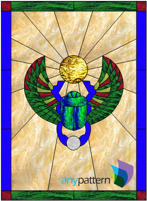 Scarab Window Stained Glass Pattern