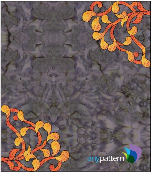 Free Scrolling Corner Example Applique Quilt Pattern
