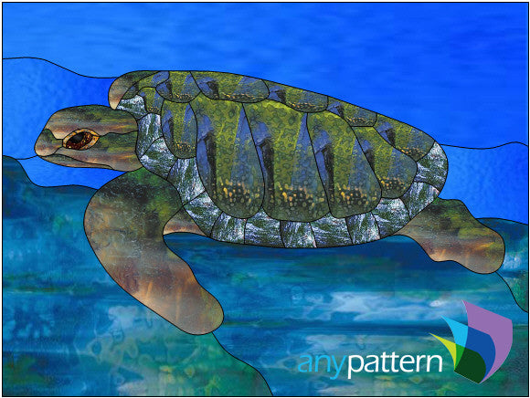 Sea Turtle Stained Glass Pattern