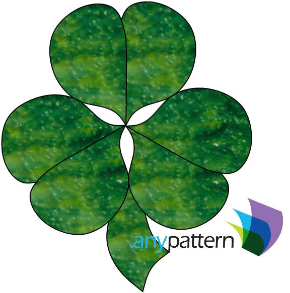 Shamrock clover free form stained glass pattern