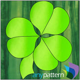 Shamrock Applique Quilt Block Pattern