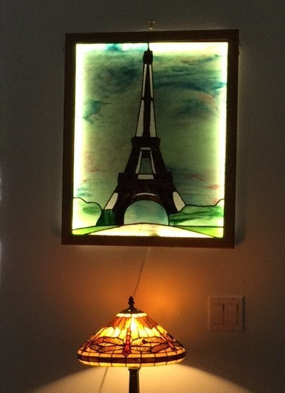 Eiffel Tower Stained Glass Pattern Anypattern Com