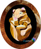 Sleeping Mouse Stained Glass Pattern
