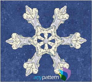 Real Snowflake Applique Quilt Pattern