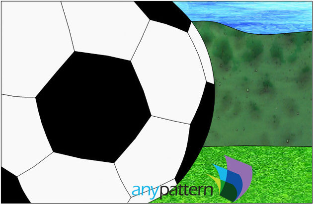 Soccer Ball Stained Glass Pattern