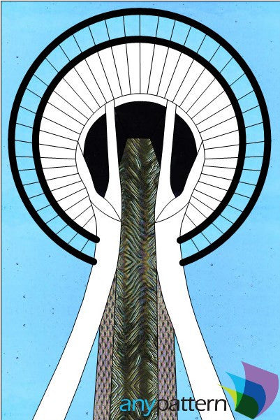 Space Needle Stained Glass Pattern