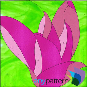 Spring Flower Stained Glass Pattern