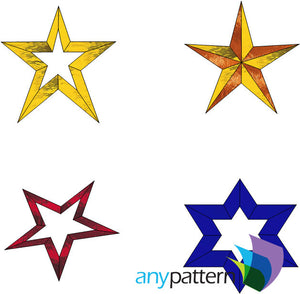 Stars Stained Glass Pattern