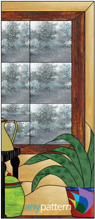 Still Life Door Right Stained Glass Pattern