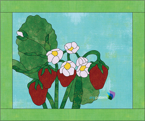 Strawberries Applique Quilt Pattern