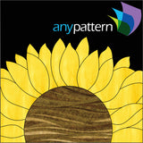 Sunflower Block Applique Quilt Pattern