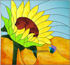 Sunflower Stained Glass Pattern