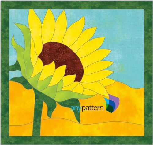 Sunflower Applique Quilt Pattern