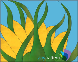 Sunflower Study Stained Glass Pattern